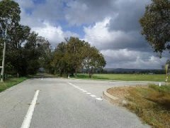country lanes around Baldivis , you can see the hills in the background ..from that point your looking at Sepentine