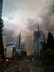 Perth , australia day ..eeerie storm brewing  !